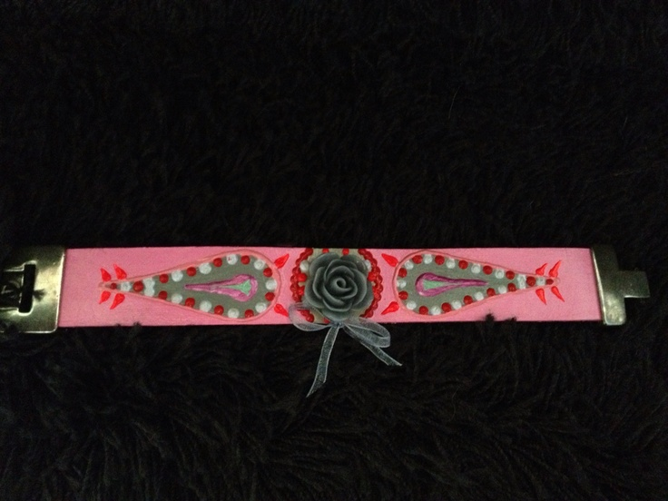 ARTbracelet by Marilyn van Raaij  € 37,50 Leather