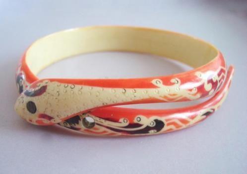 verkopers.marktplaats.nl/7443487 #ARTDECO 20s #Slang #slangen #kleur #armband #antiek #vintage #vintagesieraden #sieraden