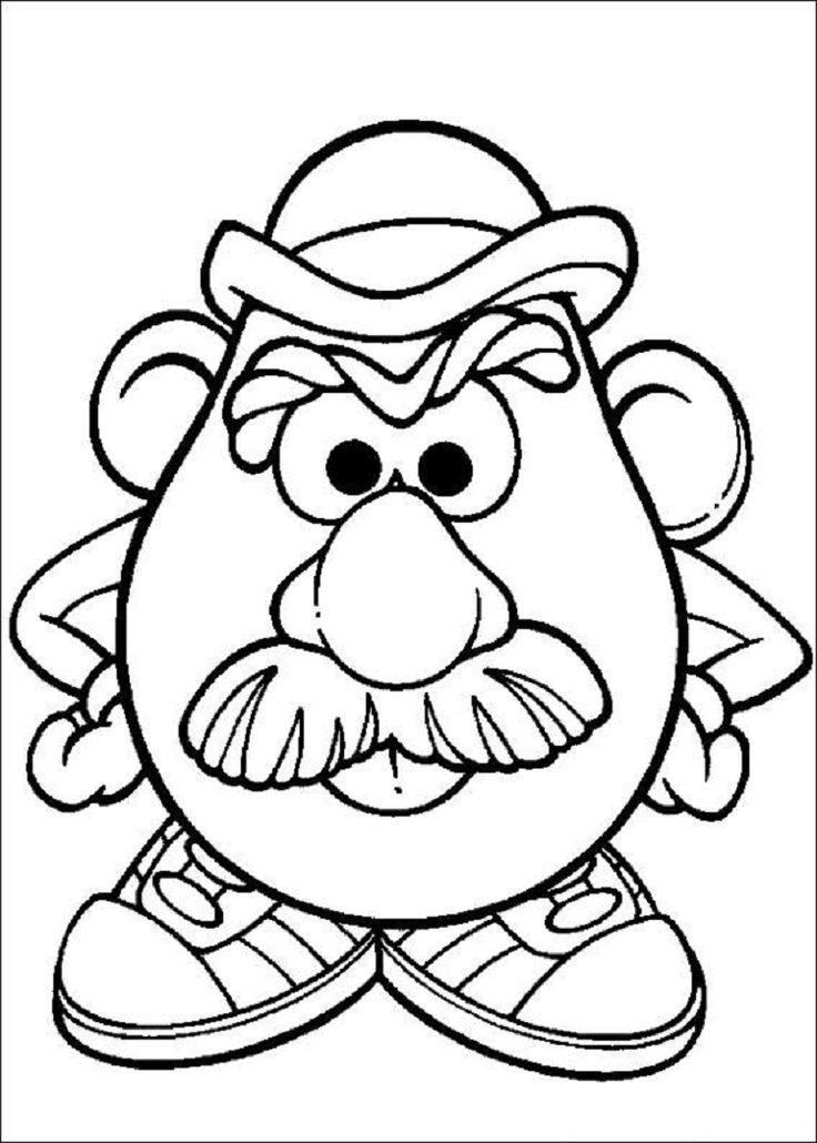 Mr Potato Head Coloring Page Free Printable Coloring Pages - 736×1030