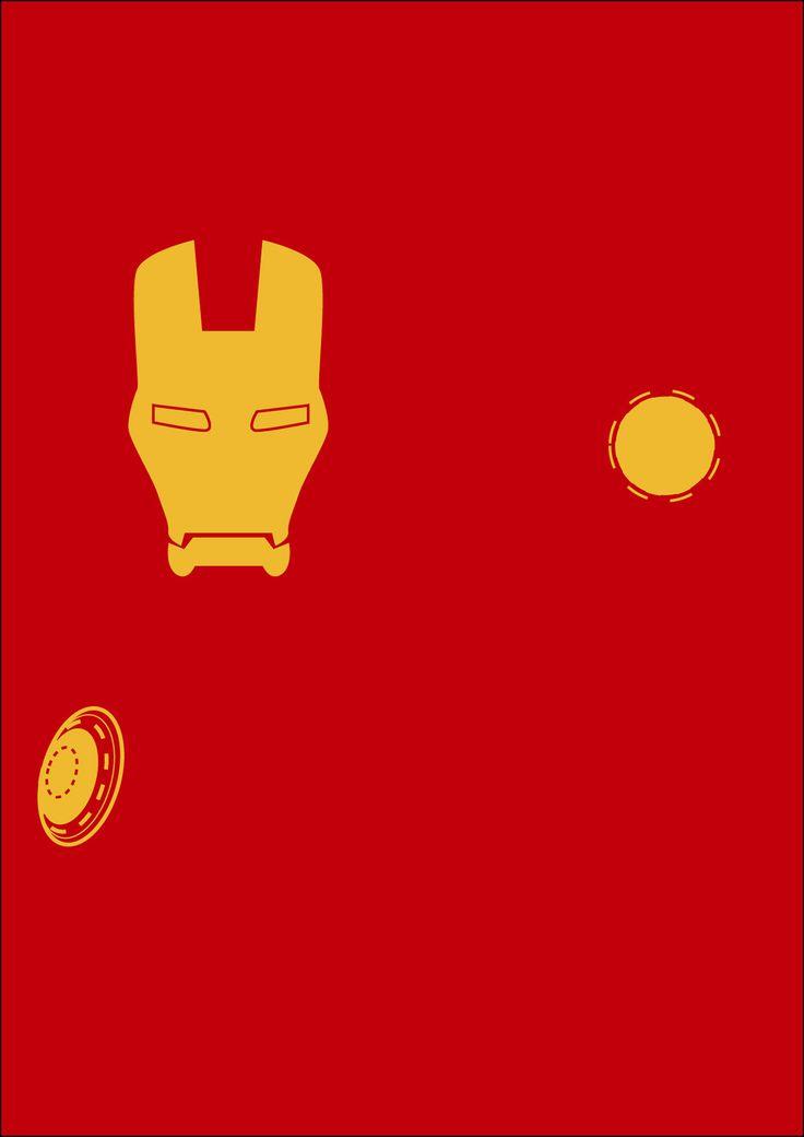 2 colour tone Minimalist super hero posters