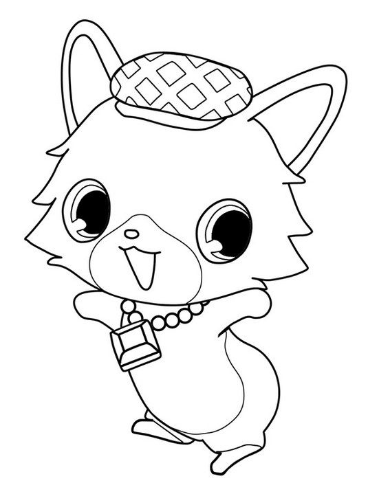 jewelpet nephrite coloring picture | Jewelpets Coloring Sheets ...