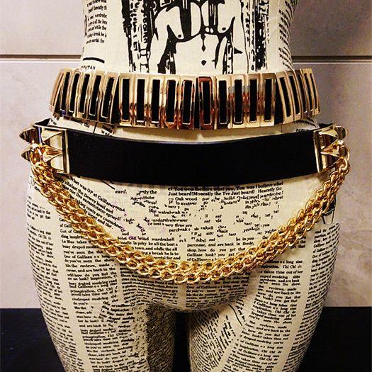 Европа личность мода сеть кисточкой заклепки широкие кожаные ремни женщин талии цепи ночной клуб дикий отделка поясной ремень пояс