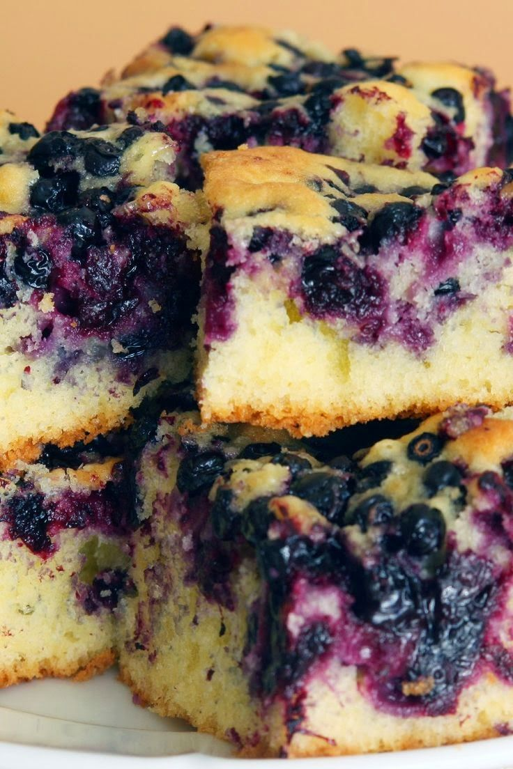 Melt In Your Mouth Blueberry Cake - This is a nice tender cake - one of my Mom's specialties from years ago. It is a great cake to take along to a picnic,,