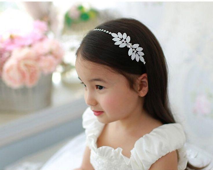 Crystal Headband Tiara For Girls And Flower Girls Hair