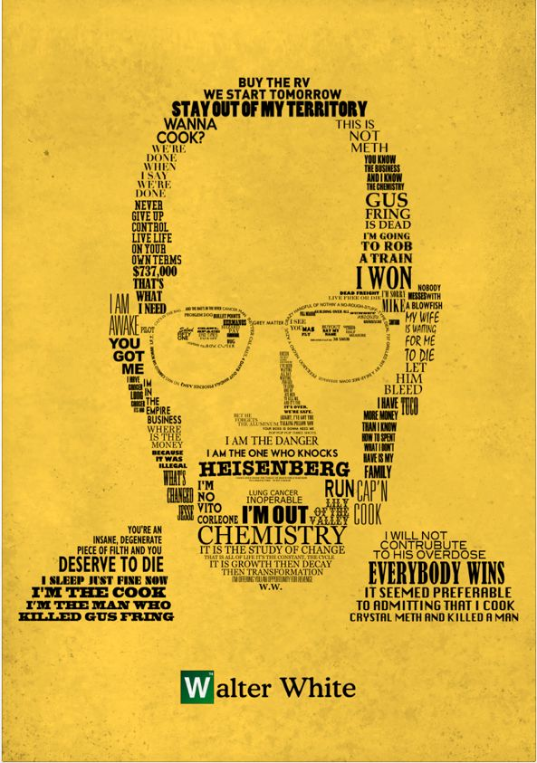 breaking bad: White Posters, Picture-Black Posters, Walt White