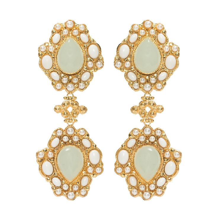 Carlotta Earrings White
