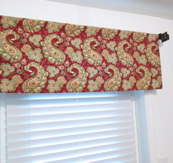 BLOOMCRAFT Paisley Curtain Valance HANDMADE in the by OldStation, $39.00
