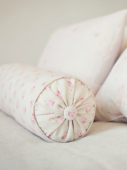Stunning Peony & Sage Bolster Cushions - Peony & Sage