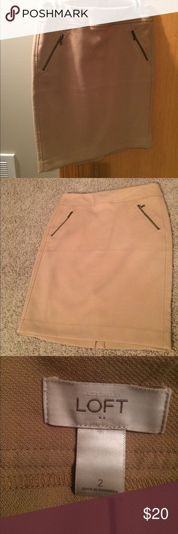 Tan skirt from the Loft Great condition. Only worn a couple of times. LOFT Skirts Midi