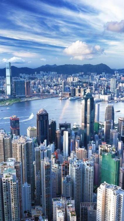 HongKong, city of sky scrapers