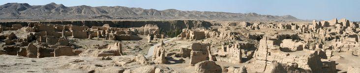 Ancient Jiaohe Ruined Town (Oct 07) /Silk road, China, near Urumqi