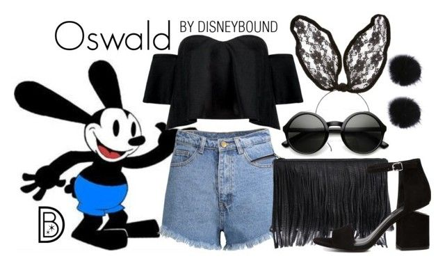 """""""Oswald"""" by leslieakay ❤ liked on Polyvore featuring Boohoo, Velvet by Graham & Spencer, Alexander Wang, ZeroUV, disney, disneybound, festivalfashion and disneycharacter"""