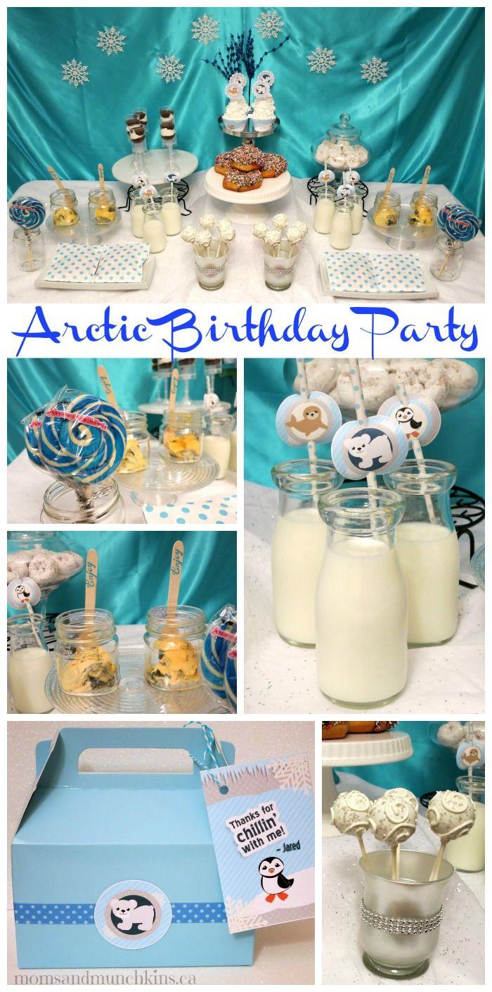 Arctic Animal Birthday Party #KidsParties