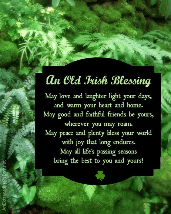 Old Irish Blessing - Free Printable for personal use to download and print. | St. Patrick's Day