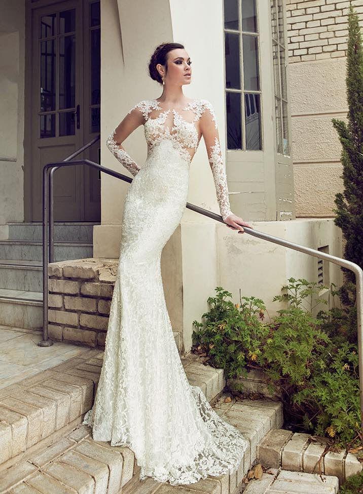 Gorgeous Hadas Cohen Wedding Dresses - MODwedding, bride, gown, lace, romantic, romance, female beauty, hands, curves, steps, door, powerful face, intense, photo