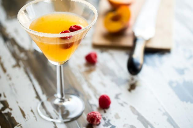 Peach Martini brings summer's favorite fruit into to boozy cocktail. Light and refreshing.