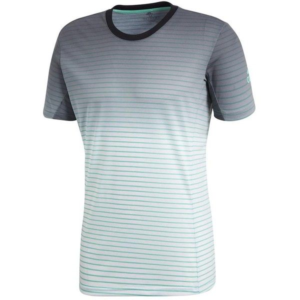 8b9c189008d89 adidas Men s Melbourne Striped Tennis Tee in High Res Green and White ( 65)  ❤ liked on Polyvore featuring men s fashion