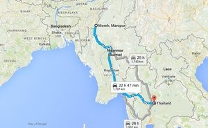 The Myawaddy-Thinggan Kawkareik section of the Asian Superhighway , starting from Manipur is set to open later in November this year.
