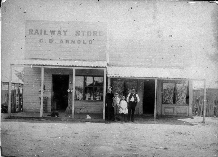C.D. Arnold Railway Store on Hoskins St,Temora,in 1890.A town in the northeast of the Riverina area of New South Wales. 🌹