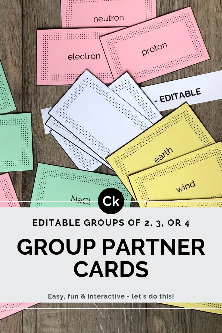 Looking To Group Students In An Easy Fun Interactive Way No Time Is Wasted For Studen Collaborative Learning Activities Partner Cards Creative Lesson Plans