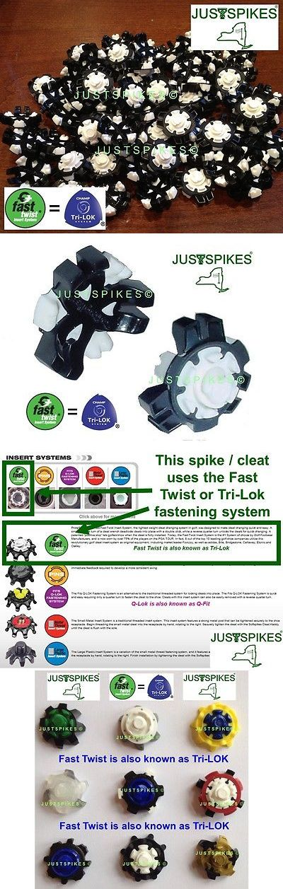 Golf Spikes 66814: 48 Tour Flex Fast Twist Tri Lok Golf Spikes Cleats Softspikes Justspikes -> BUY IT NOW ONLY: $30.53 on eBay!