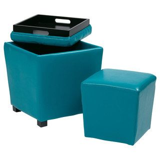 Shop for Metro 2-piece Vinyl Ottoman Set. Get free shipping at Overstock.com - Your Online Furniture Outlet Store! Get 5% in rewards with Club O! - 16691426