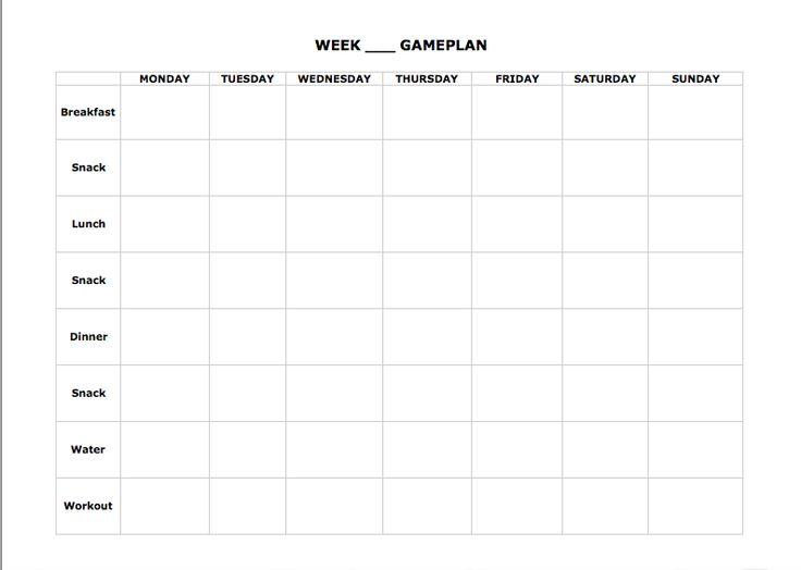Printables Meal Planning Worksheet meal planning worksheet davezan blank plan 21day fix pinterest meals and worksheets