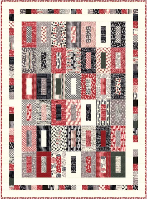 """Fabric Mill:  Mama Said Sew Jelly Roll Quilt 58 x 79"""""""
