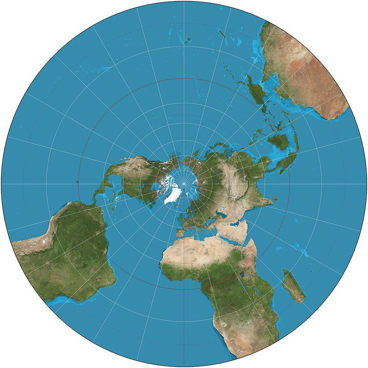 The world north of 30S on the
