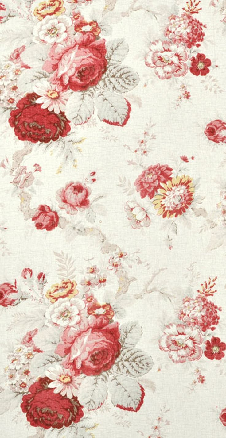 waverly norfolk red rose home decor fabric 1300 per yard - Home Decor Fabrics By The Yard