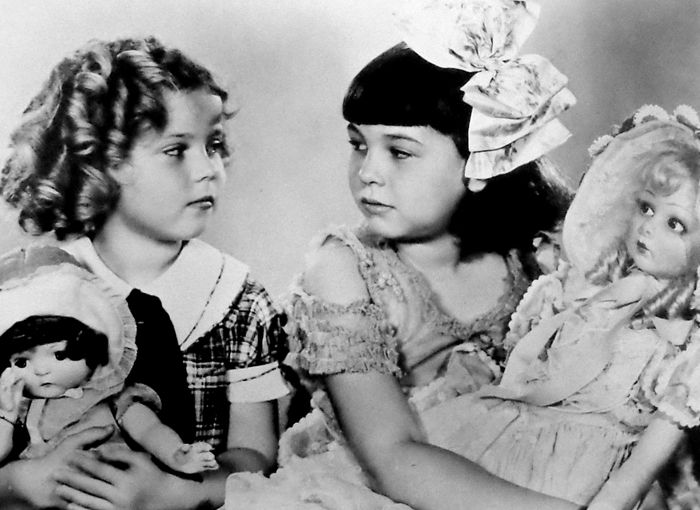 Shirley Temple and Jane Withers, Portrait for Bright Eyes, 1934.