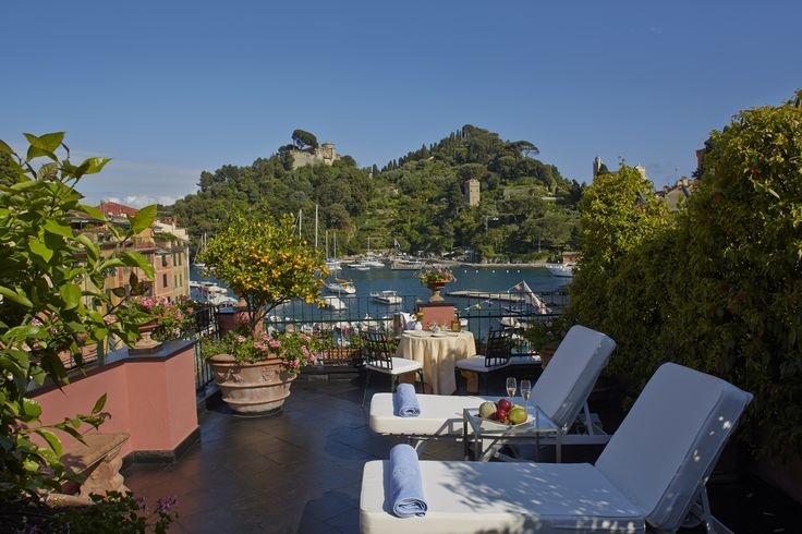 Linger in the sun and enjoy the glamorous piazza from the Ava Gardner Suite at Belmond Splendido Mare