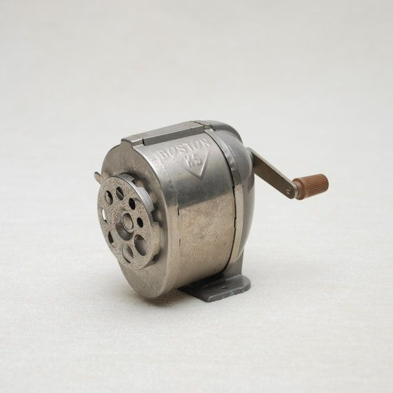 Classroom Style Pencil Sharpener  Boston by backalleyvintage