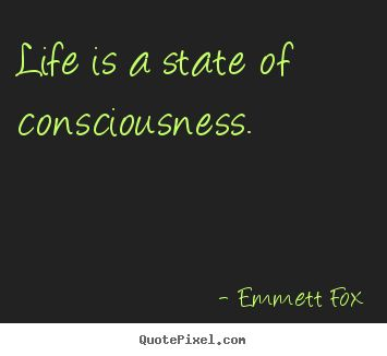 consciousness+quotes   Life is a state of consciousness. Emmett Fox best inspirational ...