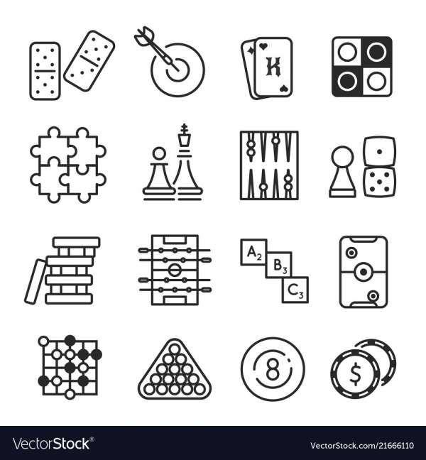 10 Board Games Icon Game Icon Symbol Design Flat Icons Set