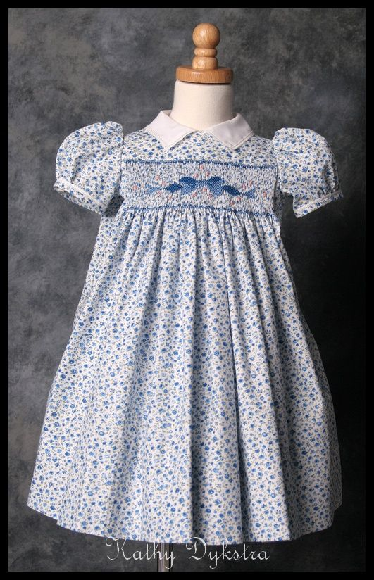 Beaufort Bow smocking design - love the bow!