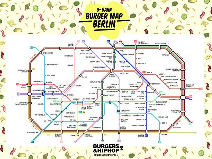 Another Berlin-U-Bahn-Burger-Map #Burger #Berlin