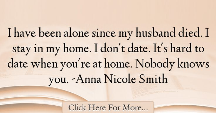 Anna Nicole Smith Quotes About Alone - 1529