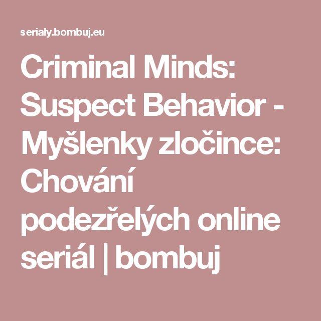 Criminal Minds: Suspect Behavior - Myšlenky zločince: Chování podezřelých online seriál | bombuj