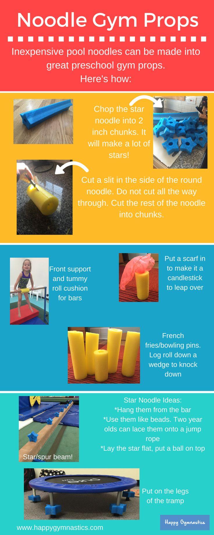Preschool gymnastics prop ideas!
