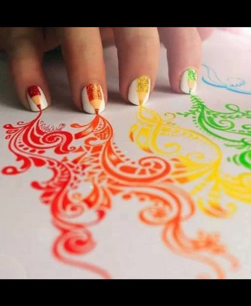 wow, that's cool. It really looks like the nails painted that!!this amazing