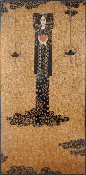 The Princess of Fuoco (tapestry) by  Vittorio Zecchin