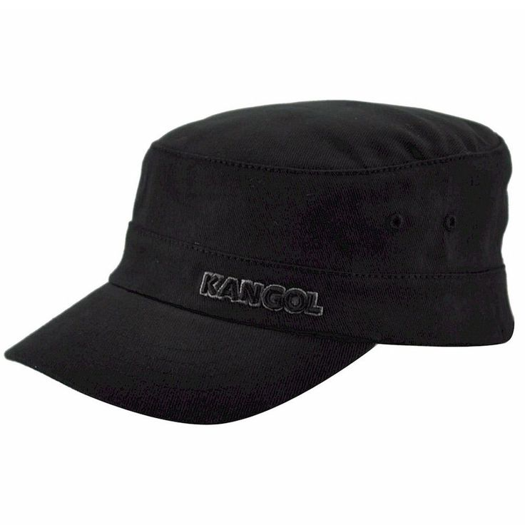 Kangol Men S Cotton Twill Army Cap Black Hat Army Cap And Cotton