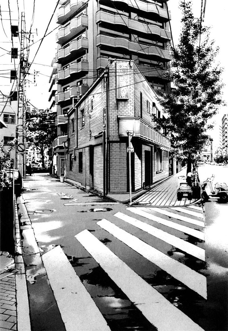 183 best background manga images on pinterest landscapes city and perspective - Site dessin manga ...