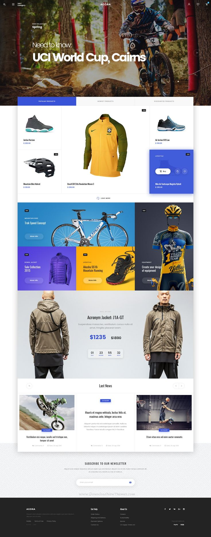 Agora is modern, bright and memorable #PSD #template for multipurpose #eCommerce website.