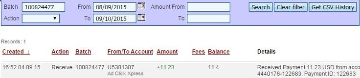 I am getting paid daily at ACX and here is proof of my latest withdrawal. This is not a scam and I love making money online with Ad Click Xpress.Online income is possible with ACX, who is definitely paying - no scam here.Thank You ACX!!!! Don't pass up the ability to earn every day and help yourself to get out of debt! Click here NOW! www.adclickxpress... Tags :# ACX #Ad Click Xpress# earn from home# make money# make money online#online income#paying daily# proof#scam# sc