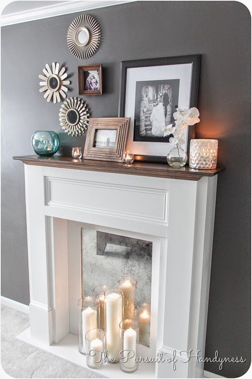 The Happy Chateau: Faux Fireplaces - Content to Rent Idea #16