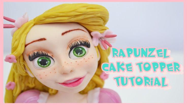 rapunzel cake topper tutorial - principessa in pasta di zucchero torta d...