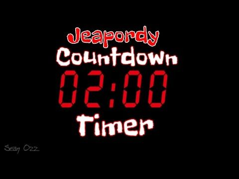 Jeopardy Music Two Minute Timer Countdown You