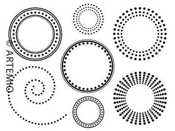 Silikónové pečiatky - retro kruhy